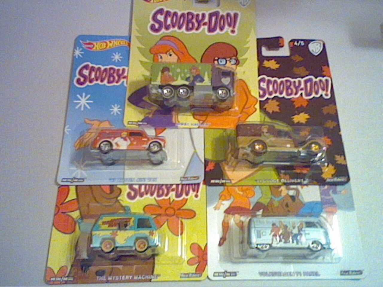 2017 POP CULTURE WB SCOOBY DOO SET OF 5 MYSTERY VW BUS DODGE HAULER FREE SHIP