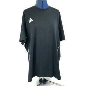 Men's Adidas Black T-Shirt with Classic White Stripe Size XXL Y2K