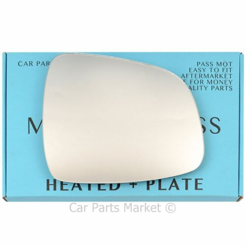plate Right Driver side Flat Wing mirror glass for Fiat Sedici 06-14 heated