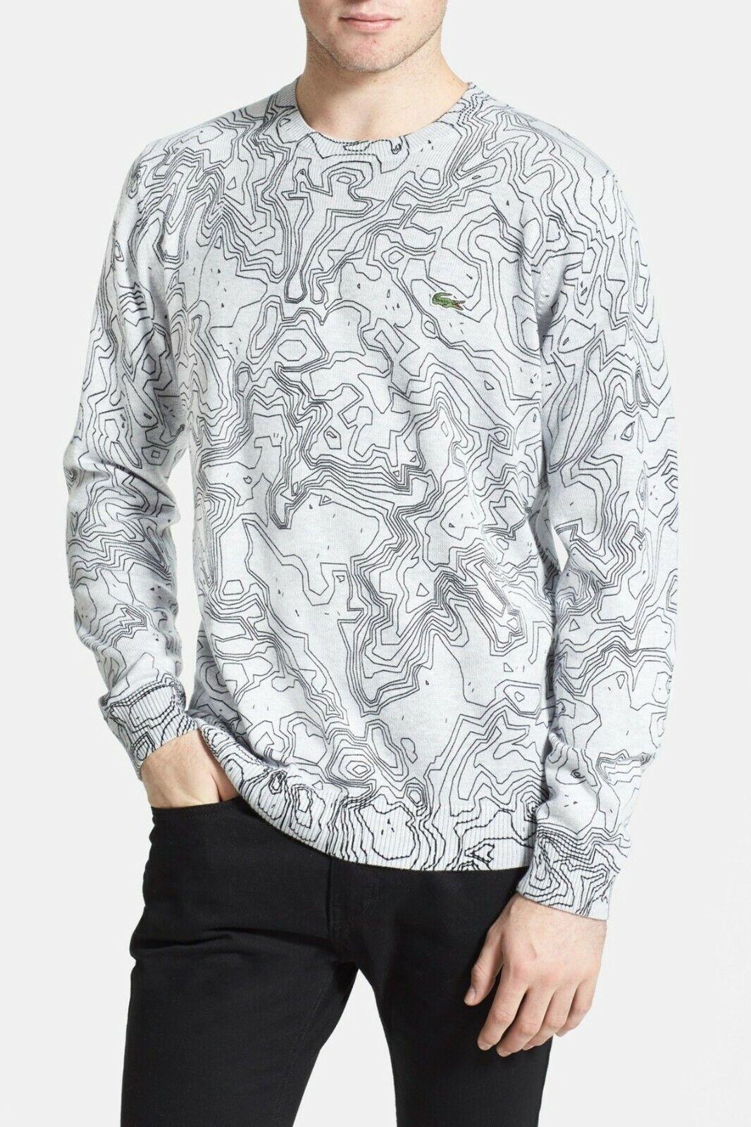 Lacoste LIVE Print Crewneck Sweater   AH2650 51 STN grau Men S - 2XL Retail  175