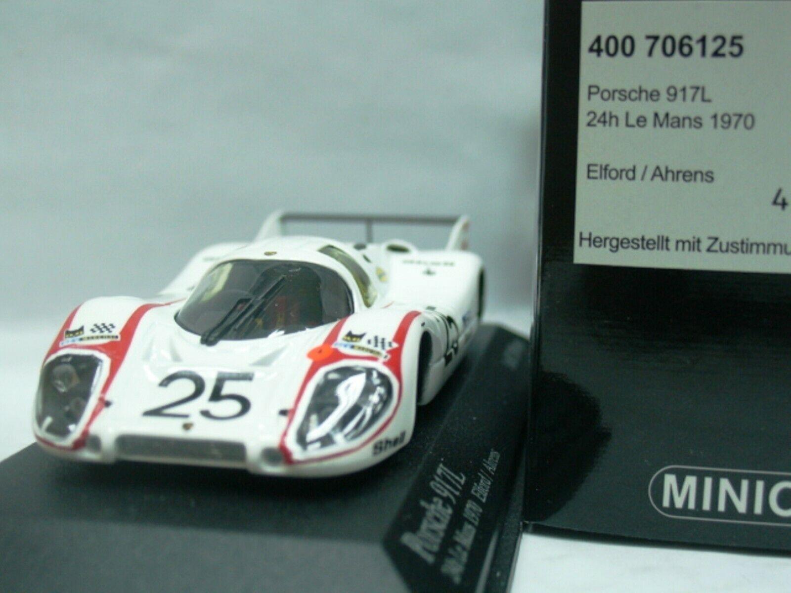 Wow extrêmement rare Porsche 917 Elford 24 H le mans WSC 1970 1 43 Minichamps-Spark