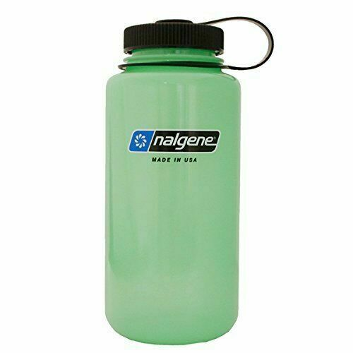 Nalgene Tritan Wide Mouth Glow 32 oz Green Water Bottle