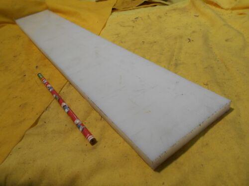 "NATURAL NYLON BAR machinable plastic flat sheet stock 1//2/"" x 4/"" x 24 1//4/"" OAL"