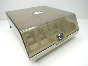 Vintage-MediaMate-3-5-034-Floppy-Disk-Storage-Case-2-Rows-Media-Box-Holder-Dividers