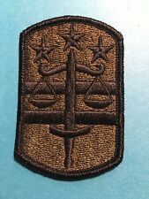 US Army 16th Military Police Airborne MP Bde OD Green /& Black BDU uniform patch