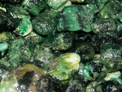Natural loose 226.05cts Colombian emerald gemstone mineral beautiful green rough