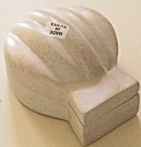 Clam Shaped Soapstone Trinket Box #67o