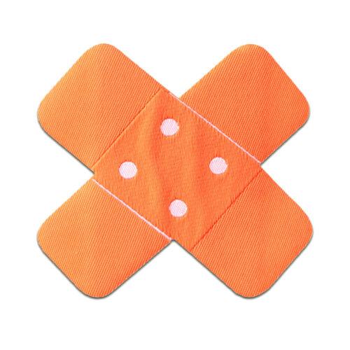 7x7cm Aufnäher Pflaster Flicken Bügelbild neon orange