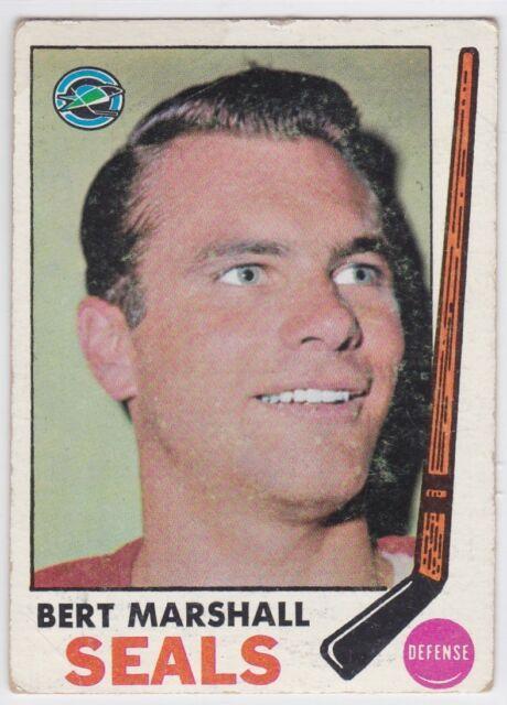 1969-70 TOPPS HOCKEY BERT MARSHALL #80 SEALS POOR *61327