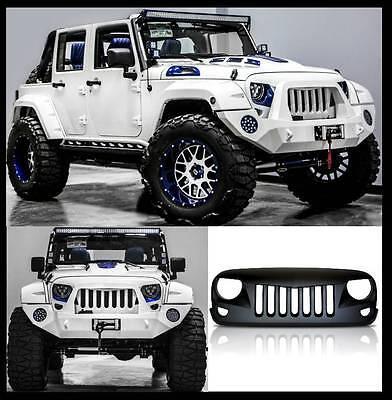 BLACK M oh.Eins. Falcon Kühlergrill Jeep Wrangler Rubicon Sahara Sport JK 07-17