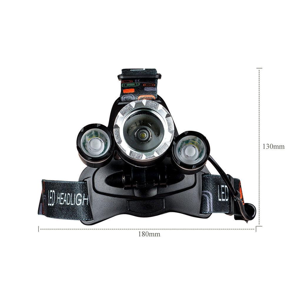 s l1600 - 12000LM T6 Linterna Frontal de Cabeza Recargable Led anti choque campo correr
