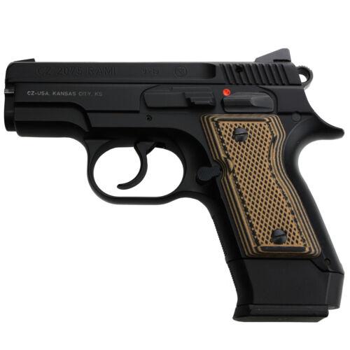 CZ Rami 2075 G10 Gun Grips Full Checker Texture Pistol Panels Fits CZ RAMI