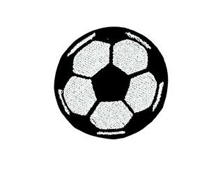 Football Soccer Patch Sport Embroidered Iron Sew On Ball