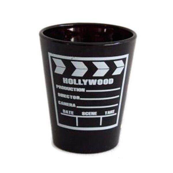 Vaso Chupito de Cine en Diseño Claqueta Hollywood