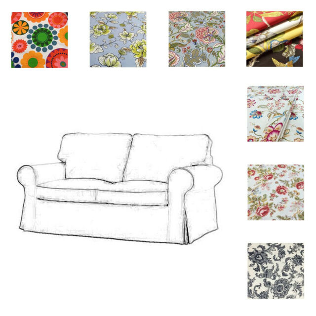 Swell Custom Made Cover Fits Ikea Ektorp Loveseat Two Seat Sofa Cover Patterned Pabps2019 Chair Design Images Pabps2019Com