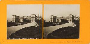 FRANCE-Marseille-Chateau-du-Pharo-Photo-Stereo-Vintage-Argentique-PL60L1228