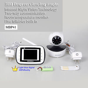 motorola baby monitor mbp41pu mbp41 wireless video audio monitor with one cam. Black Bedroom Furniture Sets. Home Design Ideas
