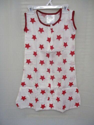 10-18 lbs. NEW -Bacati Stars Ikat Muslin Wearable Blanket Sleep Sack S - Red