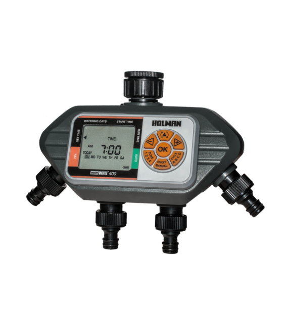 HOLMAN WaterWhiz™ 400 Four Outlets Digital Tap Timer, Individual Setting Option