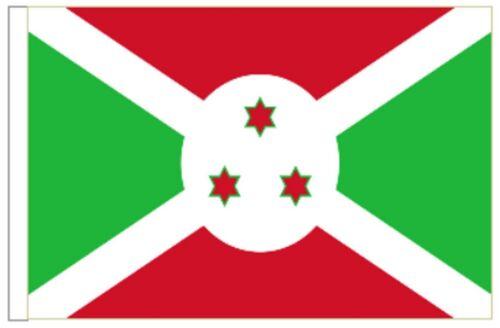 Burundi Sleeved Courtesy Flag ideal for Boats 45cm x 30cm
