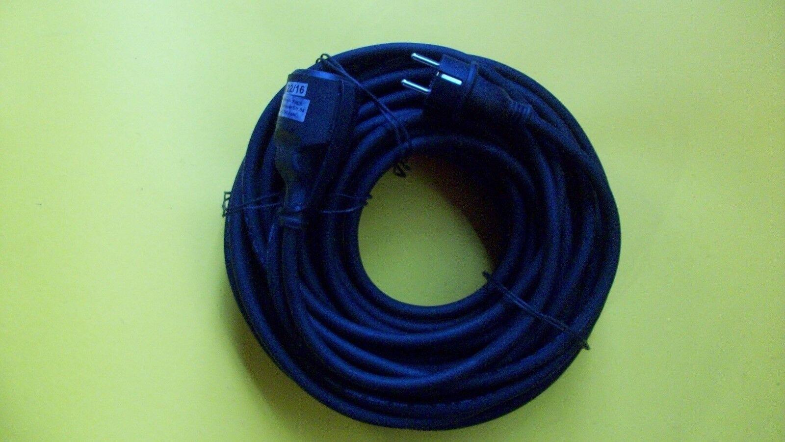 KOPP Gummi  Verlängerung 25m  IP44 schwarz | Starke Hitze- und Abnutzungsbeständigkeit
