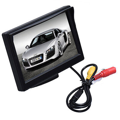 "DC 12V HD 5"" LED High Resolution 800X480 Car TFT LCD Monitor Screen 2ch Video"