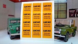 3x Lucas Patented England Wiring Loom Wrap Label Decals Land Rover on cable loom, carpet loom, crazy loom, wood loom,