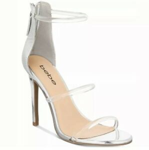 Bebe-Berdine-Silver-Clear-Ankle-Strap-Stiletto-Heels-Sandals-Prom-Dress-Shoes-10