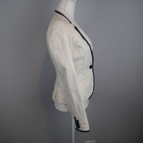 Sz Læder Blue S Jeans Navy White Jacket Blazer Sheep Gæt q7pSBXwTU