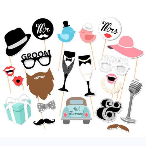 22Pcs//Set Single Lady Theme Funny Paper Beard Photo Booth Props Creative