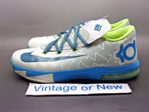 online store 251b5 456ef ... Nike KD VI 6 Pure Platinum Night Factor Volt GS Kevin Durant sz 4.5Y