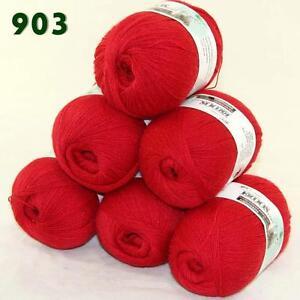 Sale-6-Skeins-x50g-LACE-Soft-Acrylic-Wool-Cashmere-Shawls-Hand-Knitting-Yarn-03