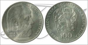 Czechoslovakia-Coins-circulation-Year-1974-number-KM00082-S-C-100-Coro