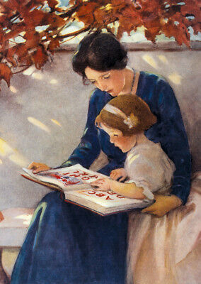 Reading Time  by Jesse Wilcox Smith  Paper Print  Repro