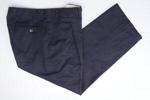 Canali Hommes Coton Pliss Marine Kaki Costume 35x27 De Unie Pantalon Bleu qgfqFR4Bw
