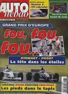 AUTO-HEBDO-n-1207-du-29-Septembre-1999-GP-EUROPE-PORSCHE-911-cab-amp-BOXSTER-S