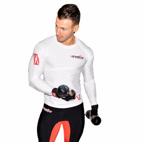 Kompressions T-Shirt in Premiumqualität/_Spezielles Strechmaterial/_Farbe weiss