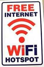 Großer Aufkleber Sticker - FREE WiFi & Internet HOTSPOT 175 x 260 mm        #W53