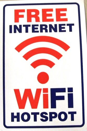 Großer Aufkleber Sticker FREE WiFi /& Internet HOTSPOT 175 x 260 mm        #W53