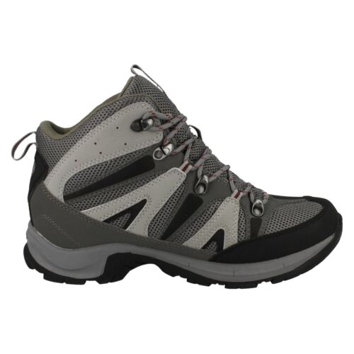 Mens Hi-Tec Back//Grey//Red lace up walking boots   CONDOR