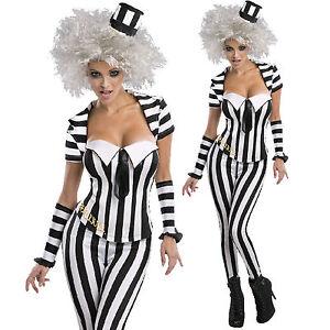 licenced beetlejuice corset costume womens fancy dress