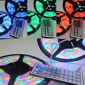 3528-SMD-RGB-60LED-m-Strip-Light-String-10m-Tape-amp-44-Key-IR-Remote-Control-Kit