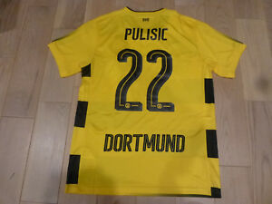 official photos 1a185 36584 Details about NWT Puma 2017/18 Borussia Dortmund #22 Christian Pulisic  Yellow Jersey (S or M)