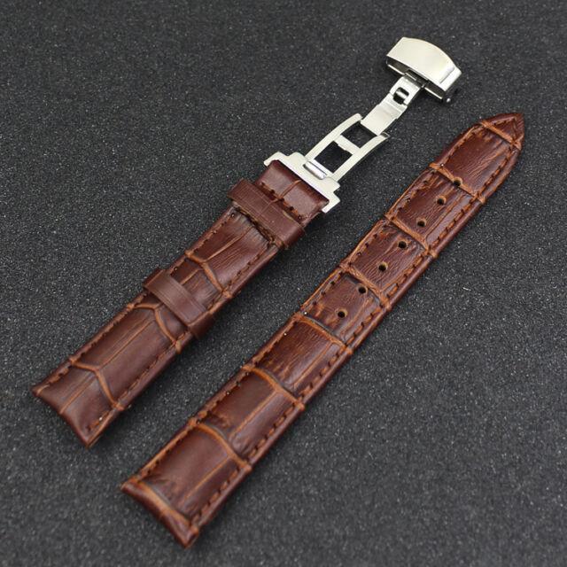 New Watch Band Genuine Leather Strap Buckle Belt Bracelet 18 - 22 mm