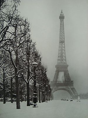 EIFFEL TOWER PARIS A FOGGY WINTER DAY LIFE MAGAZINE 1948 PHOTO 4X6 GLOSSY PAPER