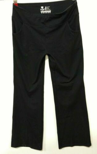Iuga Bootcut Yoga Pantalon Avec Poches Pour Femmes Taille Haute Workout XX-Large Noir