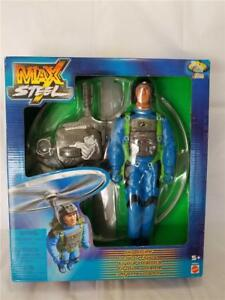 Brand-New-MAX-STEEL-2001-Pose-able-11-034-Flying-Action-Figure-SKY-STRIKE