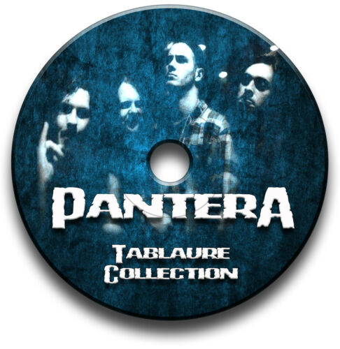 Pantera Heavy Metal Rock Gitarre Tab Tablature Lied BUCH Anthology Software CD