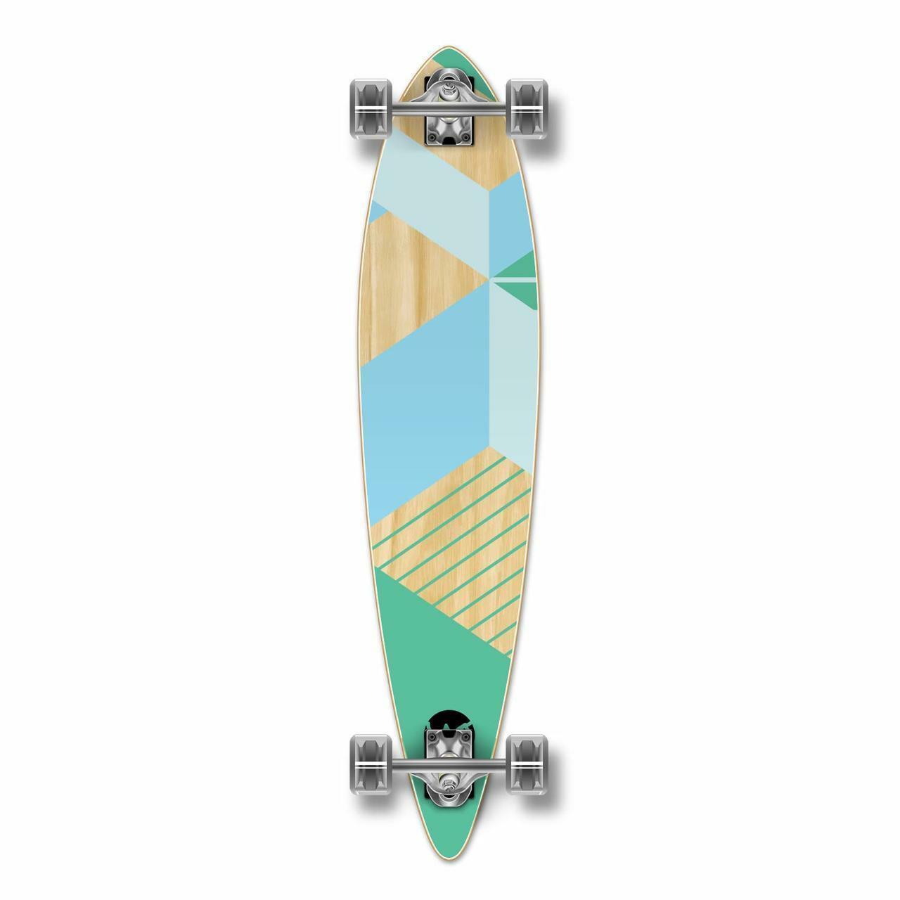 Pintail Longboard komplett - Geometrisk serie - Grön