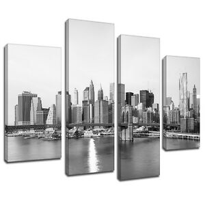 Image Is Loading MSC317 Black White New York City Canvas Wall